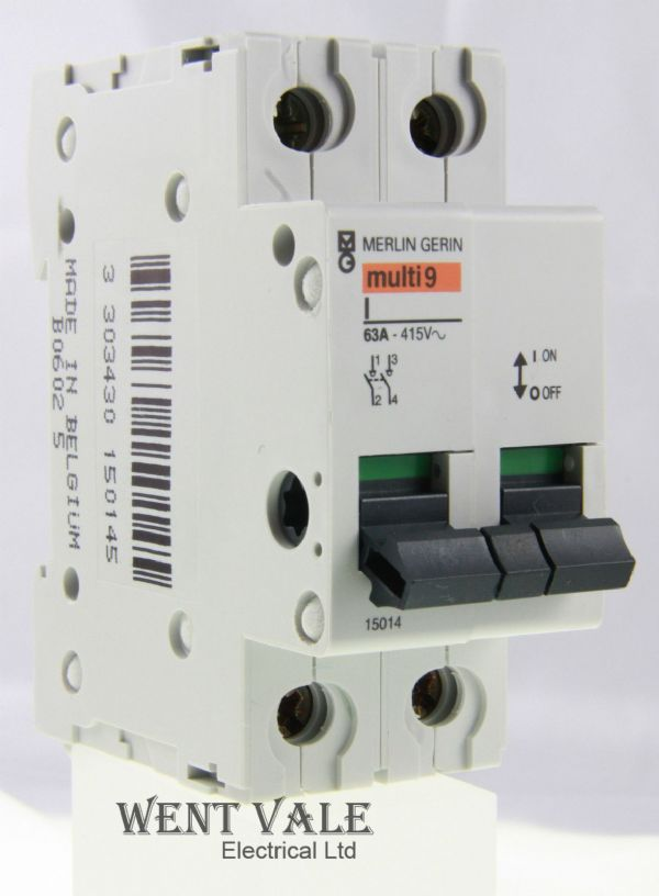 Merlin Gerin Multi 9 - 15014 Type I 63a Double Pole Switch Disconnecter Un-used